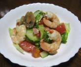 マッシュルームと海老のイタリアンサラダ