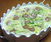 マッシュルームと白菜のクリーム煮