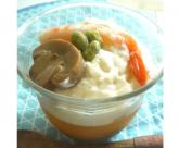 マッシュルームのコンソメゼリーとチーズ豆腐の前菜